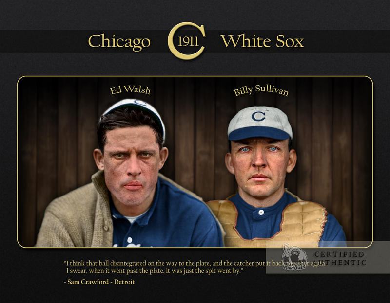 Custom Ed Walsh & Billy Sullivan (1911) - Chicago White Sox Graphic Collectible