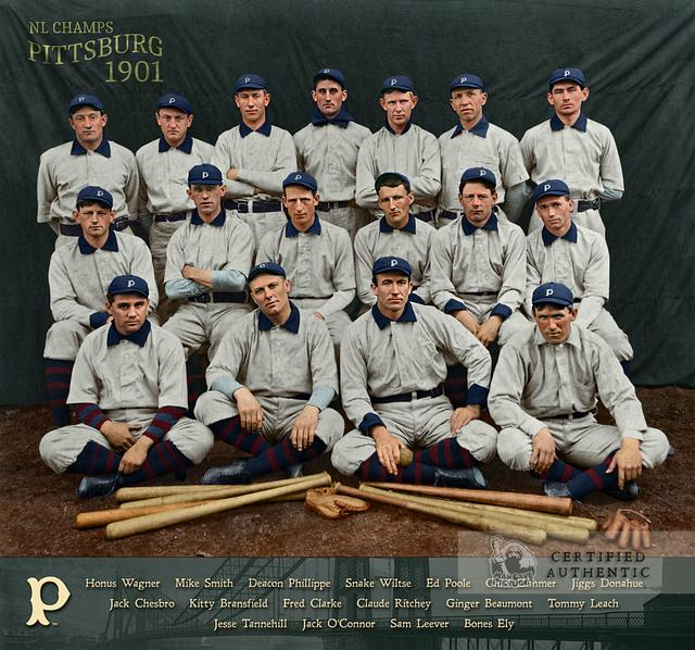 1901 Pittsburg* Pirates - NL Champions (90-49) (* no 'h' in Pittsburgh until 1911)