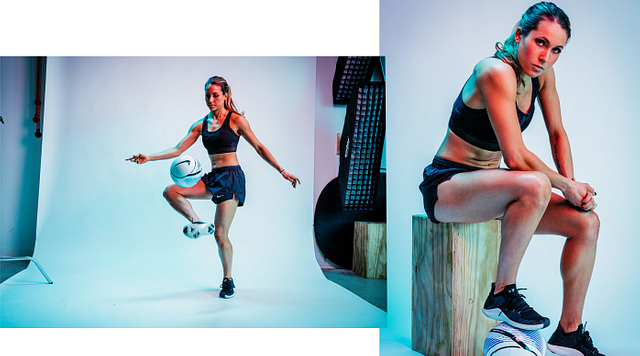 Dribbling with Lauren Kanski