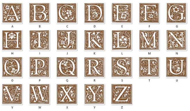 Floral Wood Initials (A-Z)