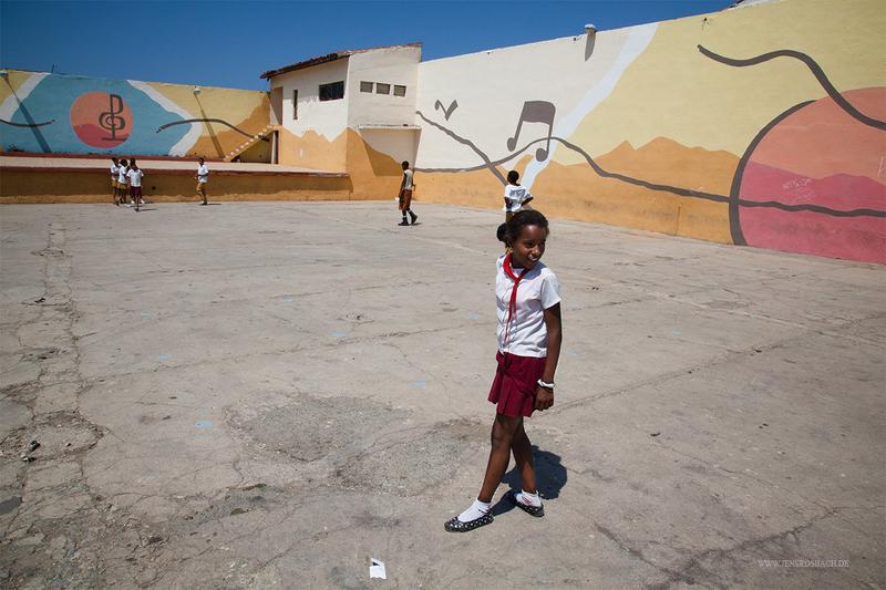 Cuban Schoolyard, Trinidad