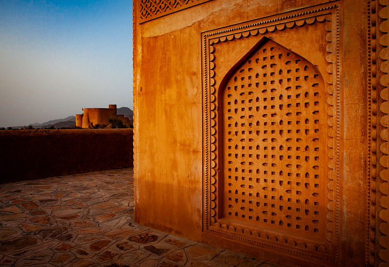 View of the Rustaq Fortress from a Sufi shrine.