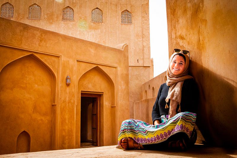 Resting at al-Jibreen Fortress.