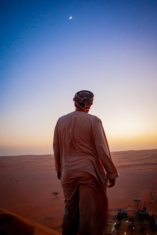 Sharqiyya Sands at dusk.