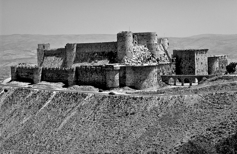 Crusader-era fortress of Krak des Chevaliers. Stronghold of the Order of St. John, Knights Hospitaller.