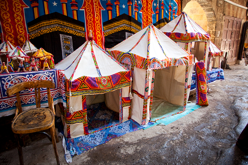 Model tents on display. Tentmakers' Street. Cairo.