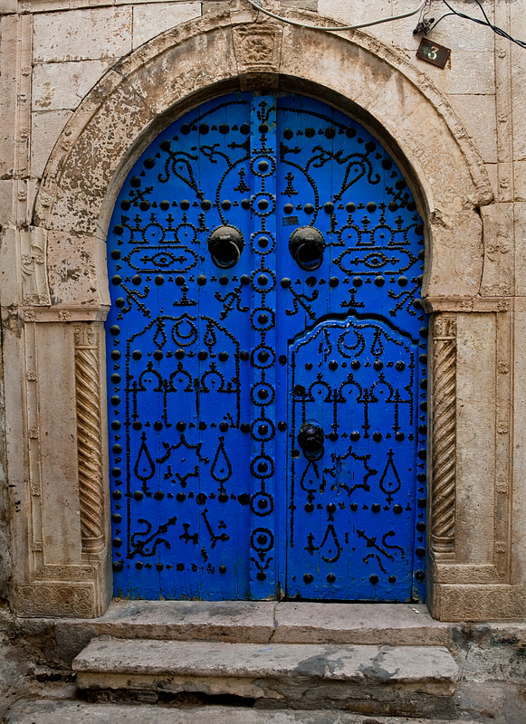 Ornate doorway. Sidi Bou Said. Tunis.