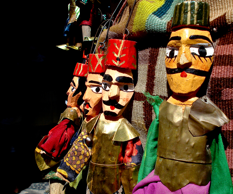 Marionette puppets for sale in the Tunis Casbah.