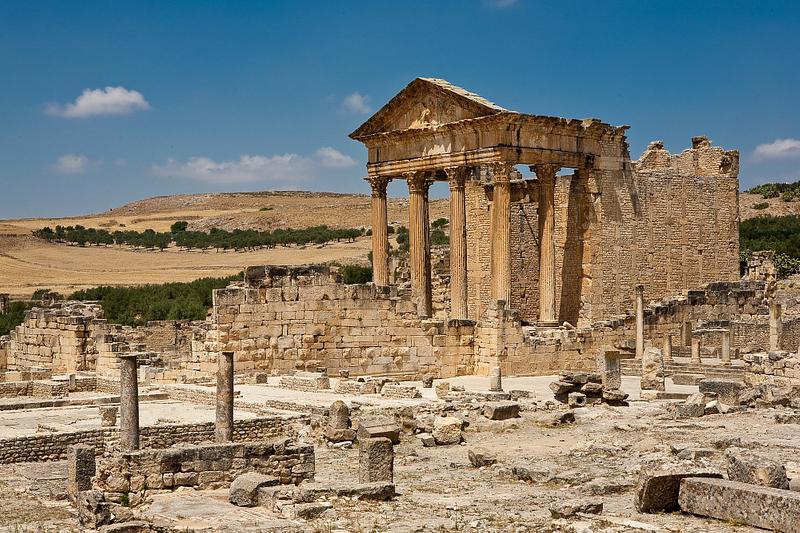Roman ruins of Dougga.