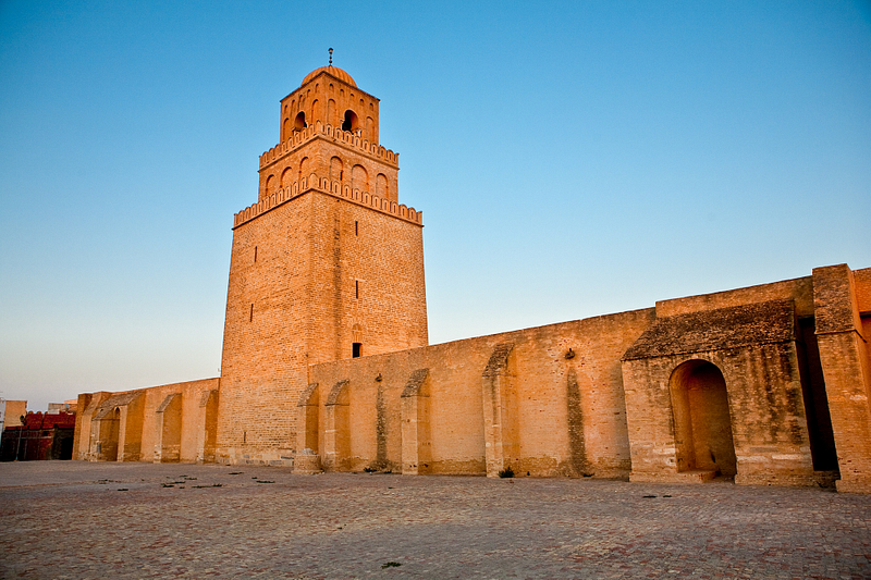 The Great Mosque of Kairouan. 9th century.