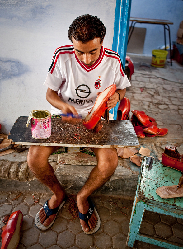 Shoemaker in Kairouan.