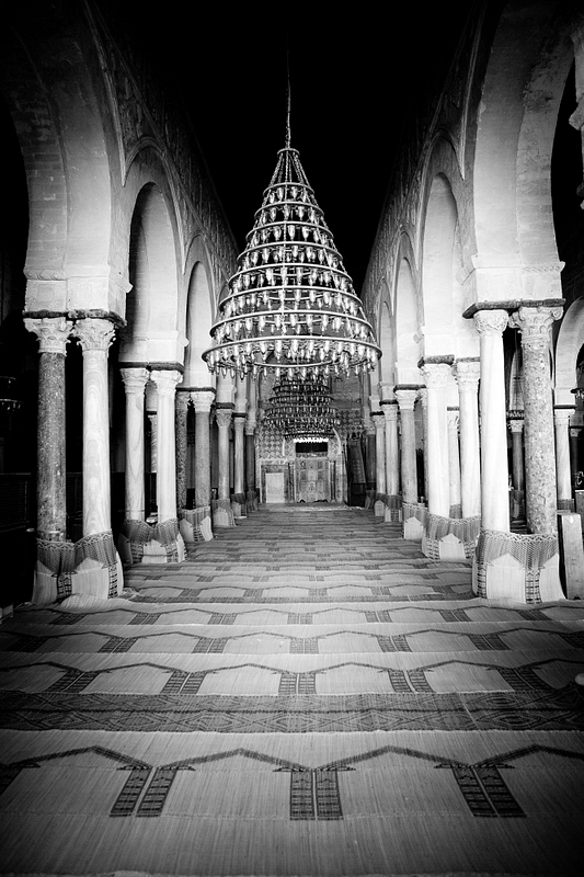 Interior of the Great Mosque of Kairouan.