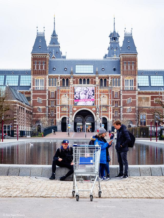 Amsterdam during Covid 19/Corona outbreak on 19 March 12.00-14.00 h