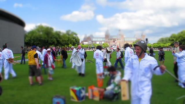 Het Domijn 2011  Museumplein  protest Broedplaatsen