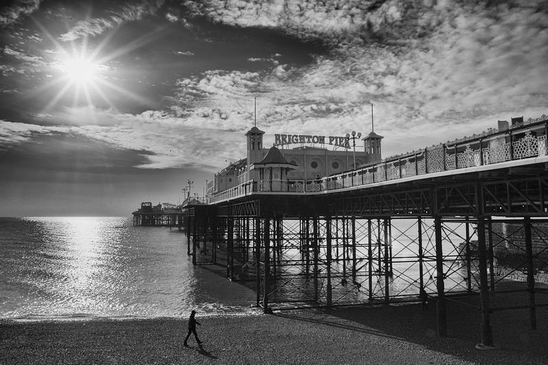 Brighton Palace Pier winter sun