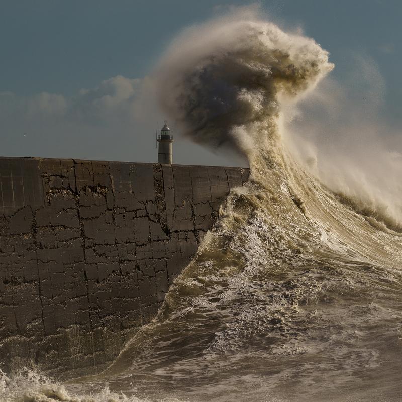 Big waves at Newhaven