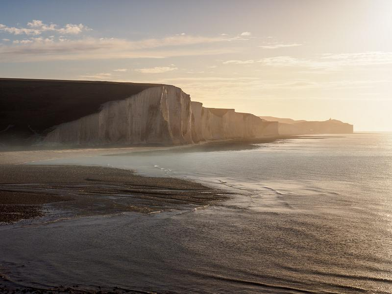 Early morning at the Seven Sisters