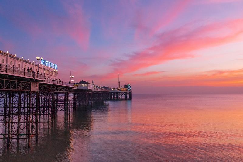 Palace Pier sunset