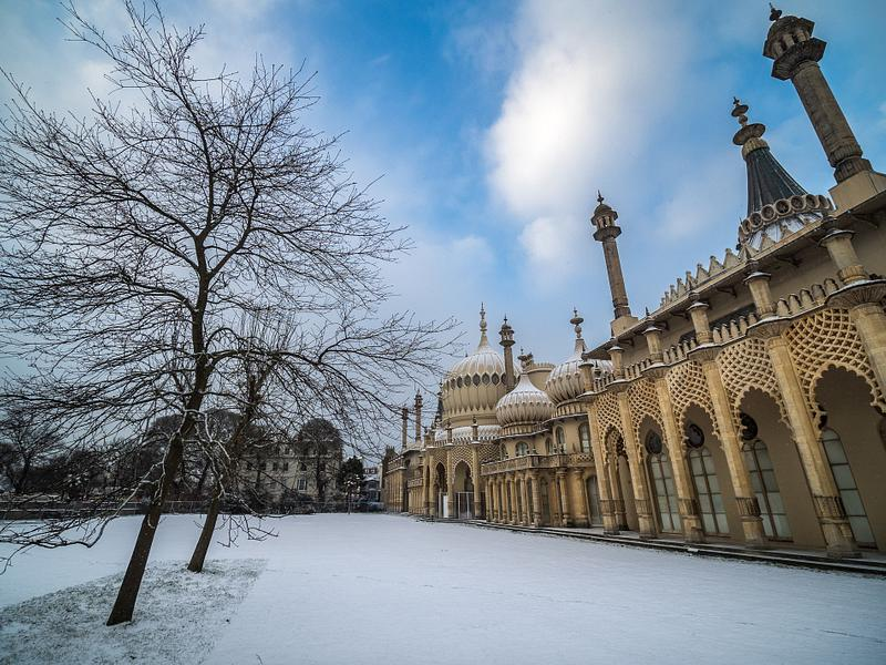 Snow at the Royal Pavilion