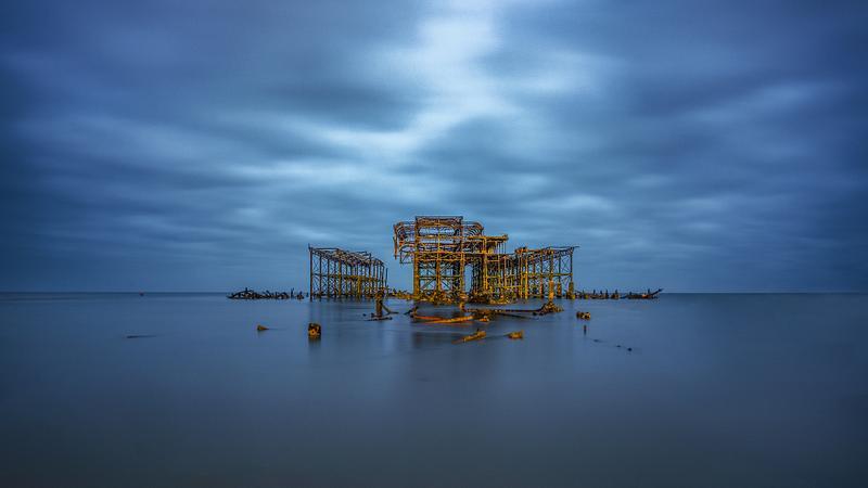 West Pier moody low tide
