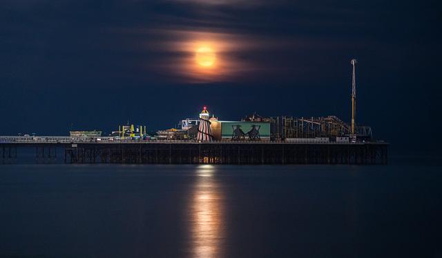Brighton moonrise