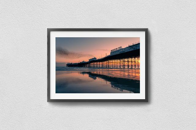 Starling reflections at the Palace Pier