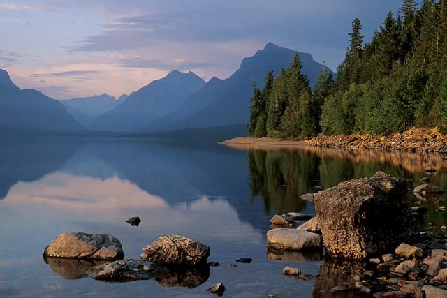 Lake McDonald at Sunset
