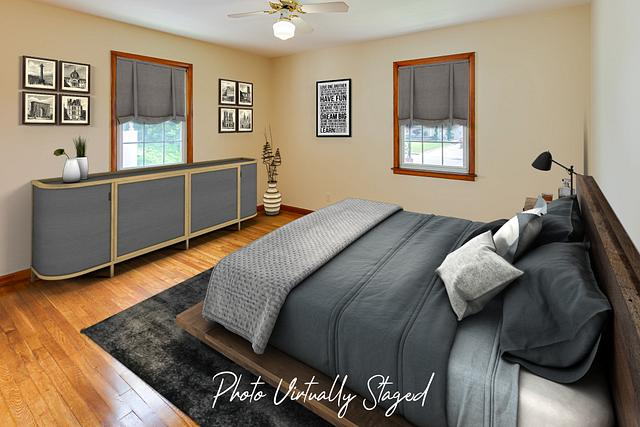 Virtual staging pictures in Fords NJ. Master bedroom virtually staged in a Fords NJ vacant home
