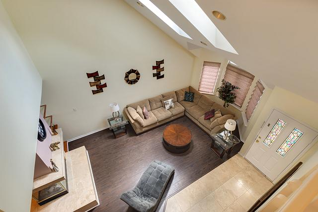 Local Real Estate Photographer - NJ - Living Room in Edison home in NJ. Top view down
