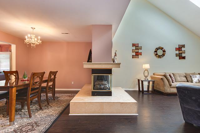 Local Real Estate Photographer - NJ - Living Room in North Edison home in NJ. Top view down