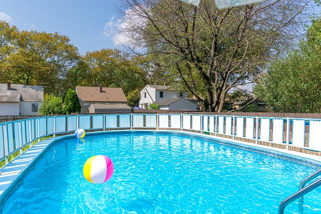swimming pool backyard picture in Metuchen home for sale