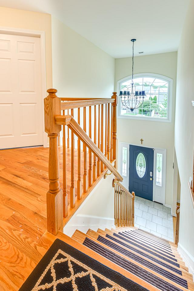 Stairs down view in Fords home for sale