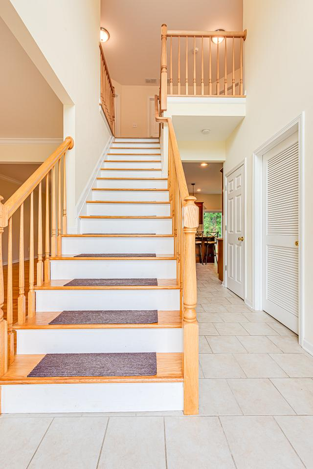 Stairs up view in Fords home for sale
