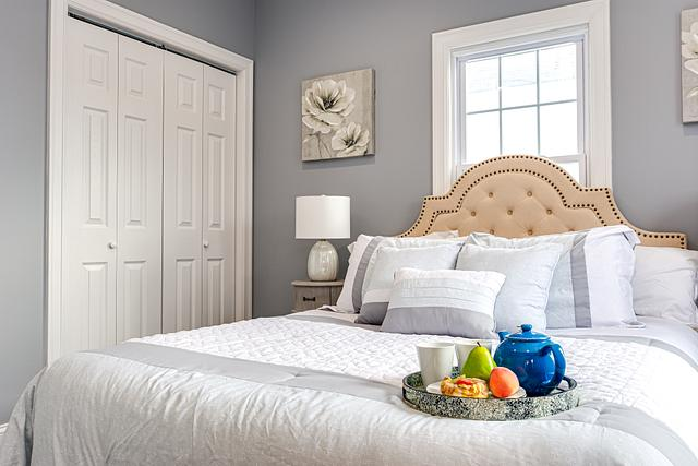 bedroom detail shot by a real estate photographer in Plainfield