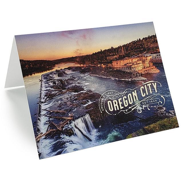 Greeting Card - Willamette Falls