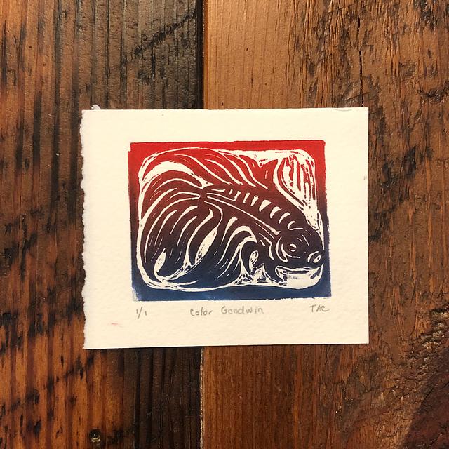 Goodwin Mini Linoleum Print