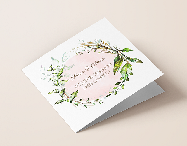 BILINGUAL WEDDING CARD