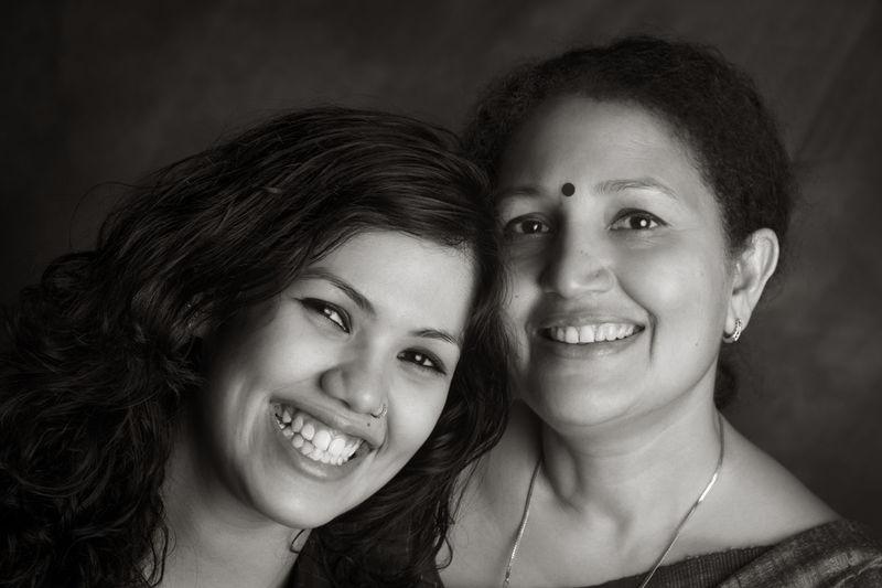 Joyita and her Mom, Pushpita Banerjee.