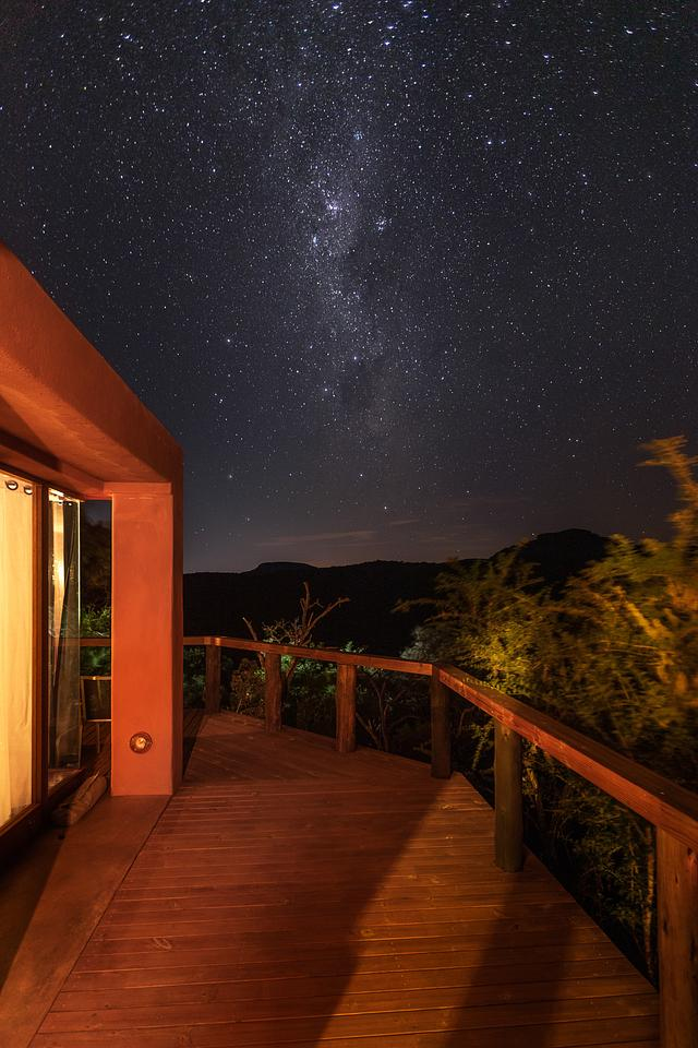 Milky Way Over Exterior Decking — Leshiba Wilderness Reserve