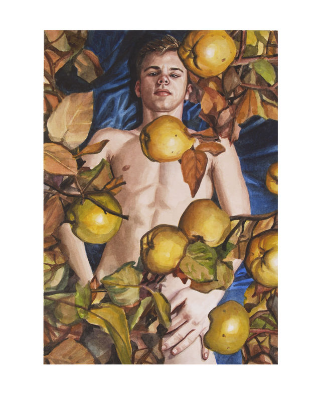 Figure with Quinces