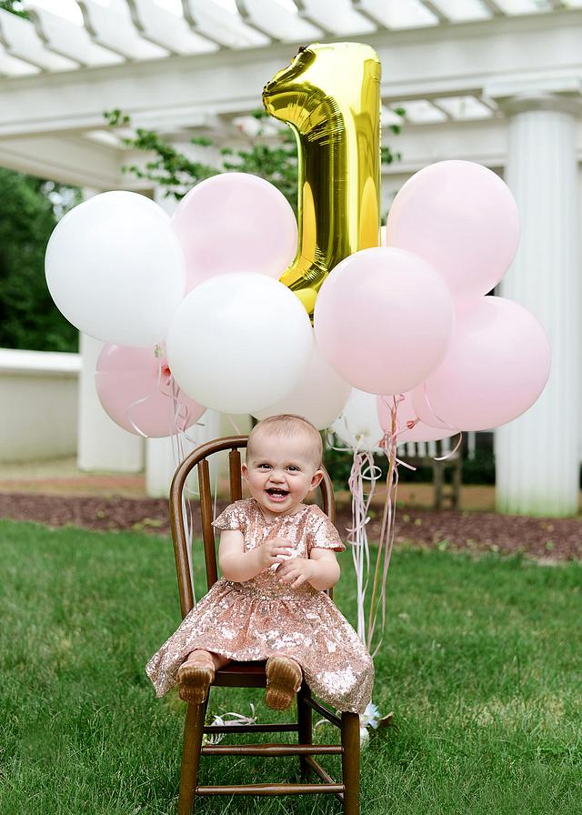 Audrey is ONE! | Birthday Session | Poland Library | Poland Town Village Hall | Youngstown Photographer