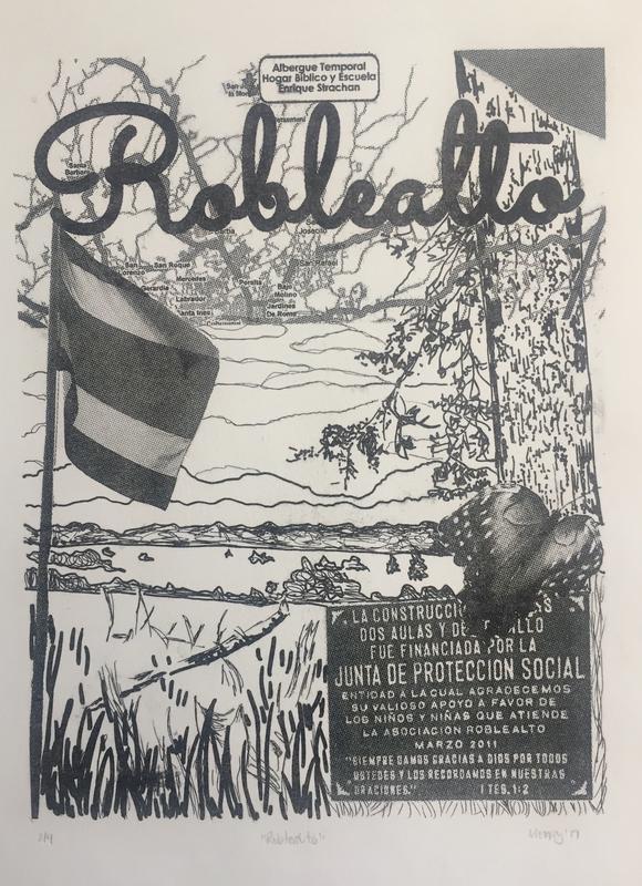 "Roblealto, polyester plate lithograph, 12x15"""
