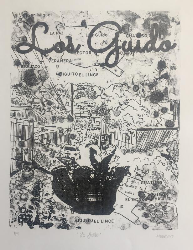 """Los Guido, polyester plate lithograph, 12x15"""""""