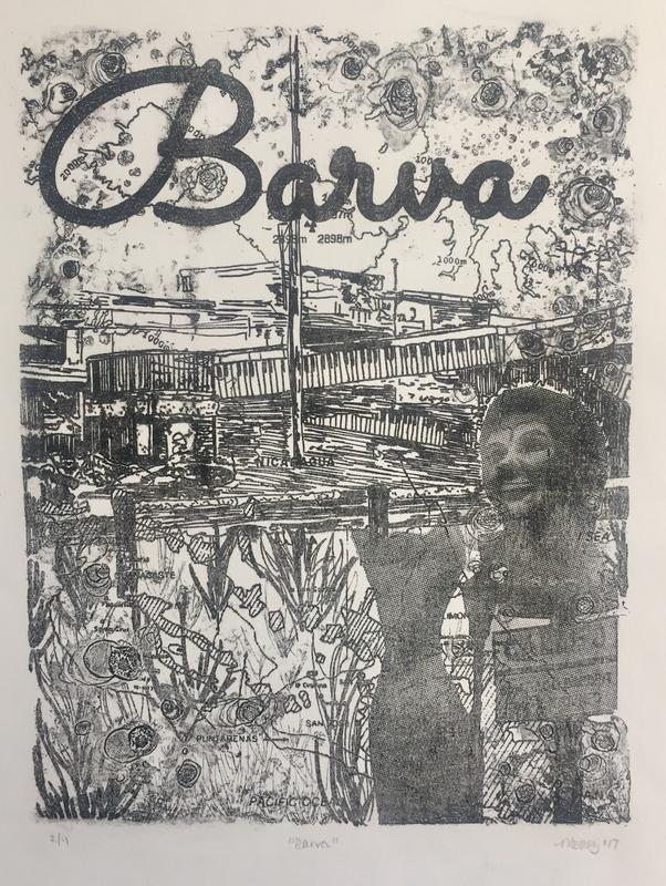 """Barva, polyester plate lithograph, 12x15"""""""