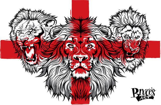 England 3 Lions St George's Cross T-shirt