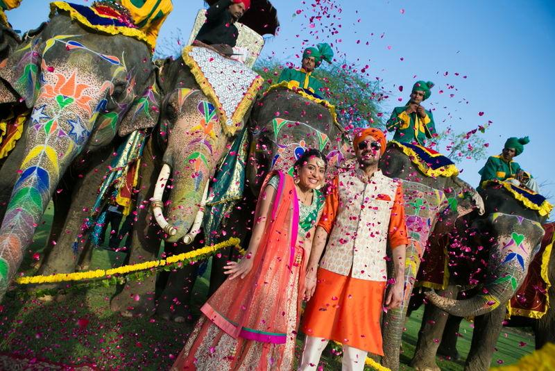Natasha and Birinder - A destination wedding in Samode Palace Jaipur