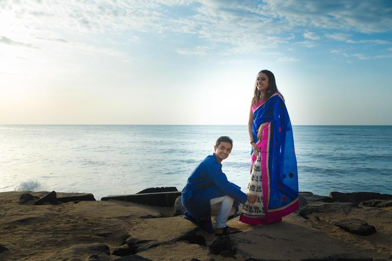 Ambika and Karthik - Portraits session in Puducherry