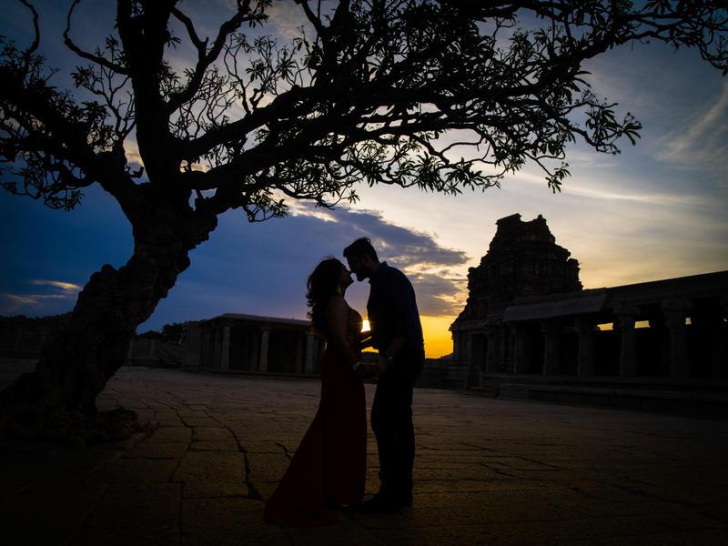Amritha and Rohit in Hampi Karnataka