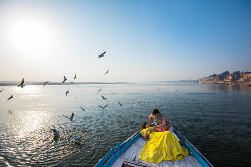Vinti and Madahav - A perfect day in Varanasi
