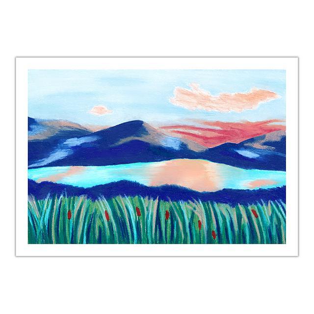 Mountain lake (A5 giclée print)
